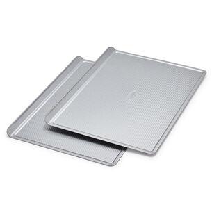 Sur La Table Platinum Professional Half Sheet Cookie Sheet Pan, Set of 2
