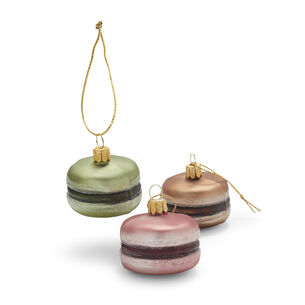 Macaron Glass Ornaments, Set of 3