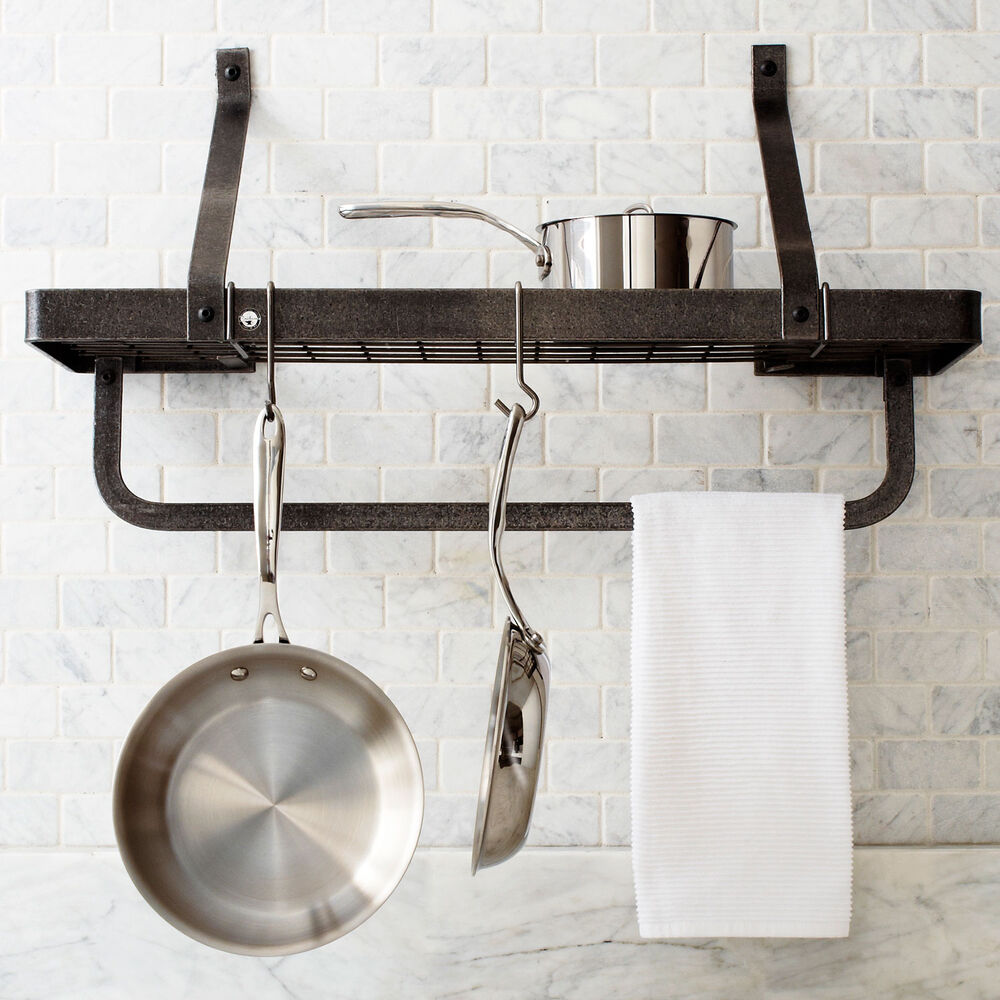 Enclume Hammered-Steel Wall Rack with Utility Bar