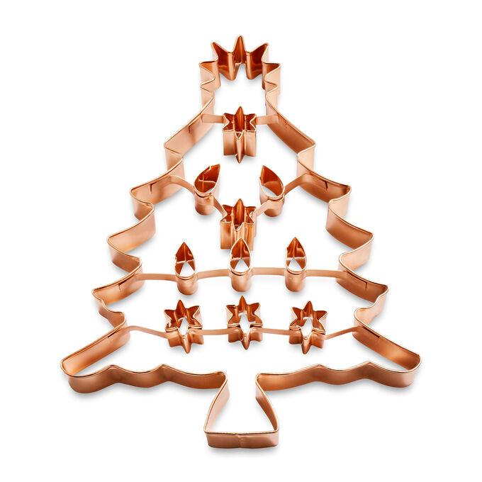 Large Christmas Tree Copper-Plated Cookie Cutter