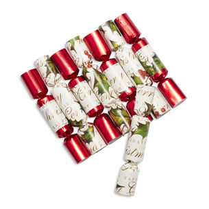 Bows & Berries Mini Party Crackers, Set of Eight