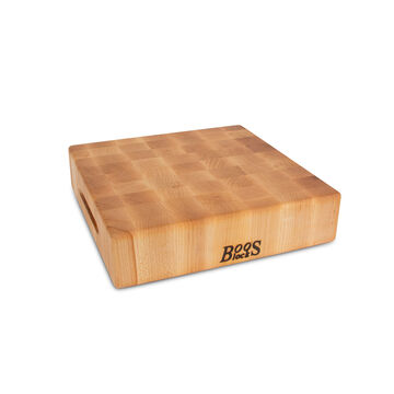 John Boos & Co. Square End-Grain Maple Chopping Block