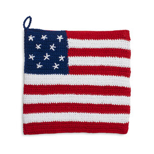 Crochet Flag Pot Holder
