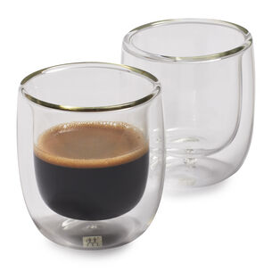 Zwilling J.A. Henckels Sorrento Double-Wall Espresso Glasses, 2.7 oz., Set of 2
