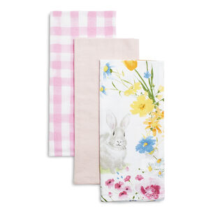 "Easter Floursack Kitchen Towels, 30"" x 20"", Set of 3"