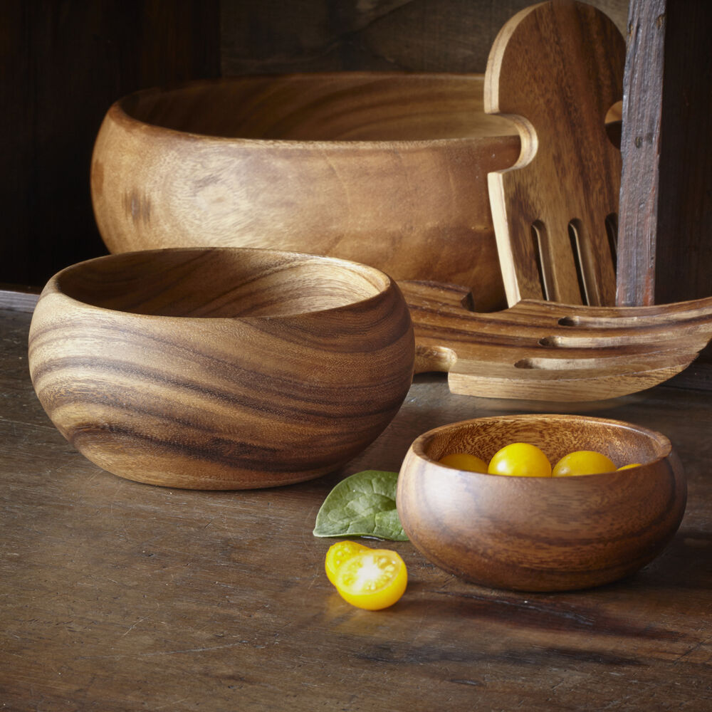 Acacia Wood Appetizer Bowl