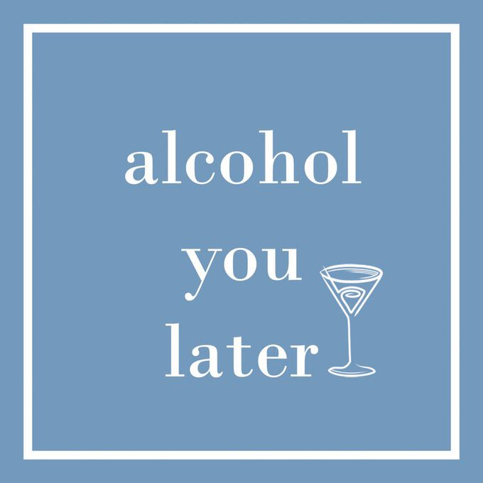 """Alcohol You Later"" Paper Cocktail Napkins, Set of 20"