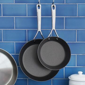 """Sur La Table Tri-Ply Stainless Steel Nonstick Skillets, 8"""" and 10"""" Set"""