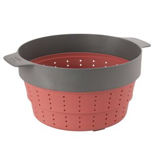 """BergHOFF Leo Silicone 2-in-1 Steamer and Strainer, 10"""""""