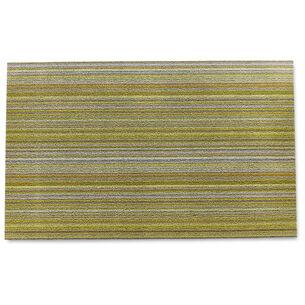 Chilewich Skinny Stripe Shag Mat, Citron