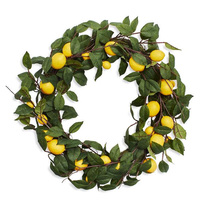 "Lemon Wreath, 25"""