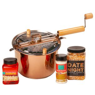 Copper Plated Stainless Steel Whirley Pop Date Night Set