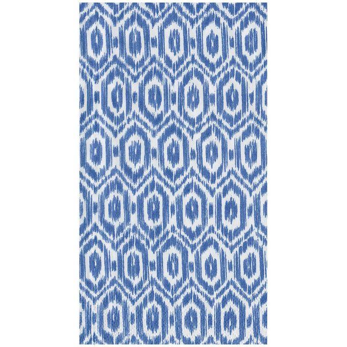 Amala Ikat Blue Guest Napkins, Set of 15