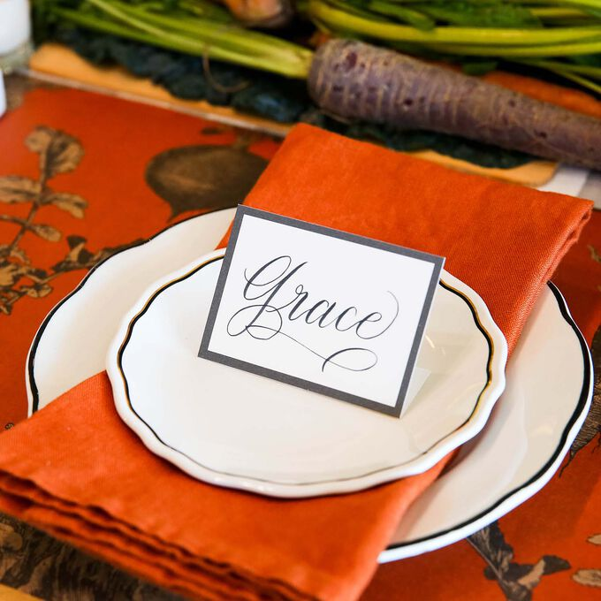 Vegetable Paper Table Settings