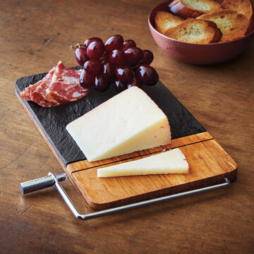 Slate Cheese Board with Slicer