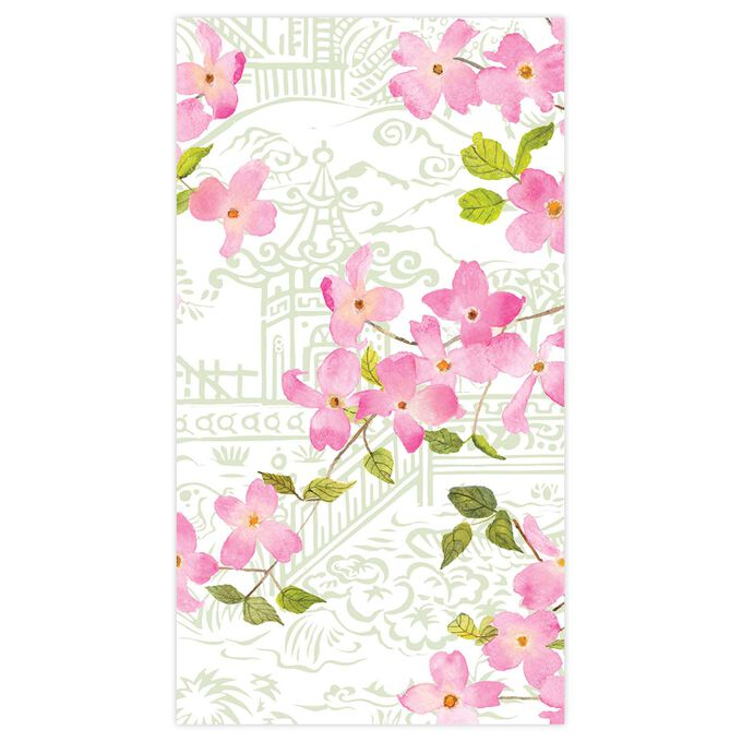 Blossom Branch Guest Napkins, Set of 15