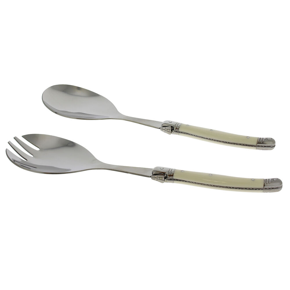 French Home Laguiole Connoisseur Salad Servers, Set of 2