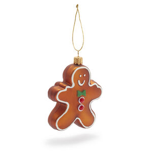 Gingerbread Cookie Glass Ornament