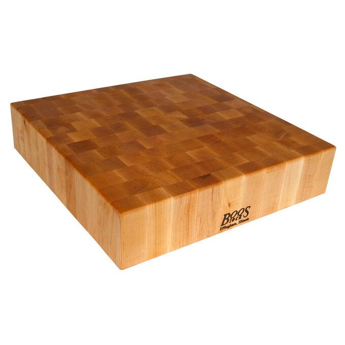 """John Boos & Co. Maple End-Grain Chopping Block, 18"""" x 18"""" x 4"""""""