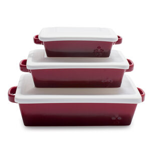 La Marque 84 Oven to Table 3-Piece Baker Set with Lid
