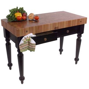 """John Boos & Co. Le Rustica Cherry Block Table, 48"""" x 24"""""""