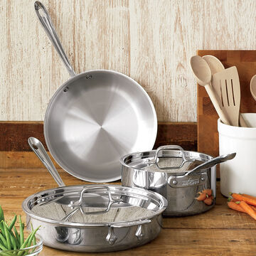 All-Clad d3 Stainless Steel 5-Piece Set