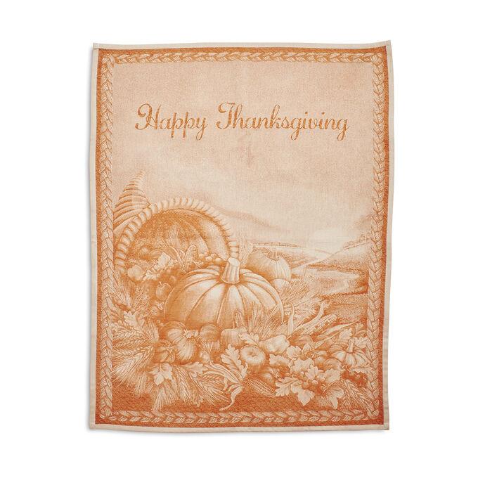 """Happy Thanksgiving Jacquard Towel, 31"""" x 24"""""""
