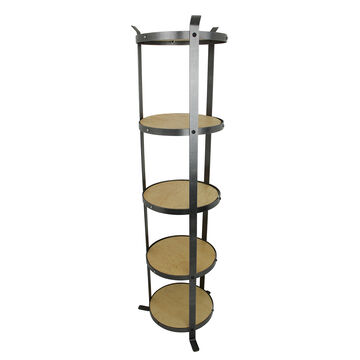 Enclume Handcrafted 5-Tier Round Designer Stands (Unassembled)