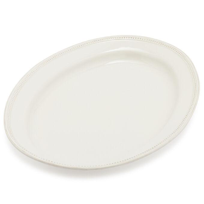 Pearl Stoneware Oval Platter