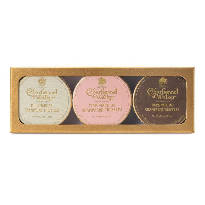 Charbonnel et Walker Dark, Milk and Pink Marc de Champagne Gift Set