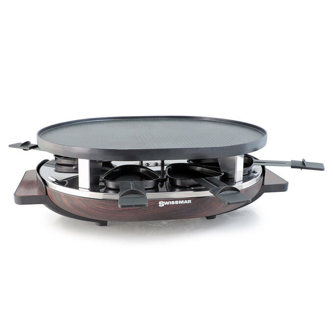 Matterhorn Raclette Grill with Reversible Cast Aluminum Grill Plate