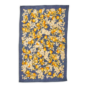 "Orange Blossoms Linen Kitchen Towel, 28"" x 20"""