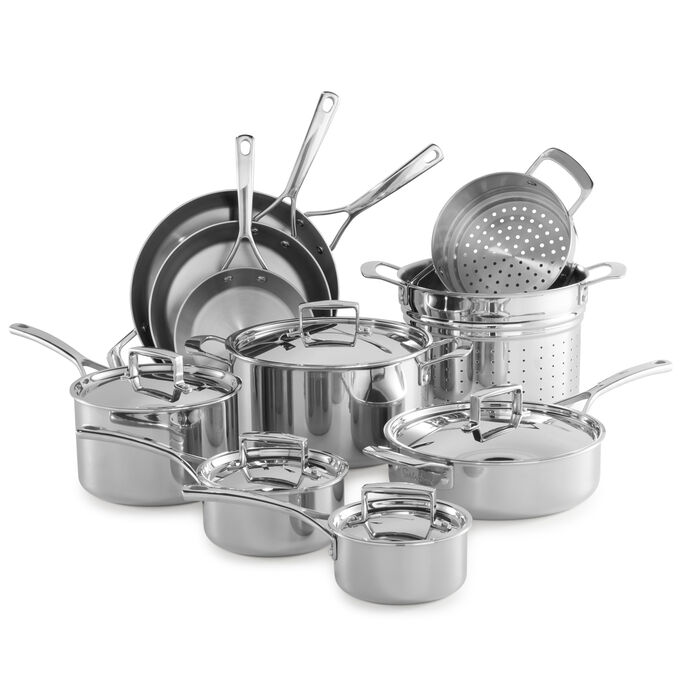 Sur La Table Tri-Ply Stainless Steel 15-Piece Set