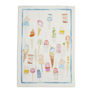 "Pastel Ice Cream Linen Kitchen Towel, 28"" x 20"""
