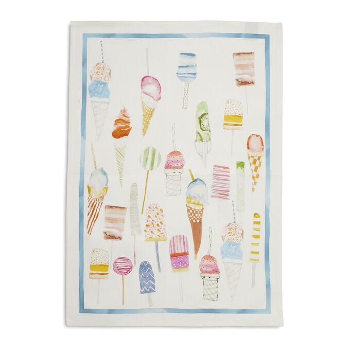 "Pastel Ice Cream Linen Kitchen Towel, 28"" x 20"""