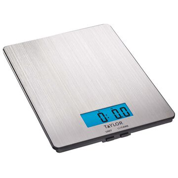 Taylor Stainless Steel Digital Kitchen Scale, 11 lb.