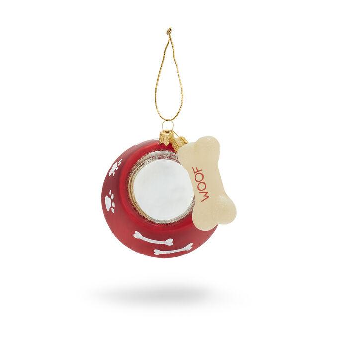 Dog Bowl Glass Ornament