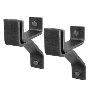 "Enclume 4"" Wall Brackets for Rolled-End Bar, Set of 2"