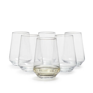 Schott Zwiesel Pure Stemless White Wine Glasses, Set of 6