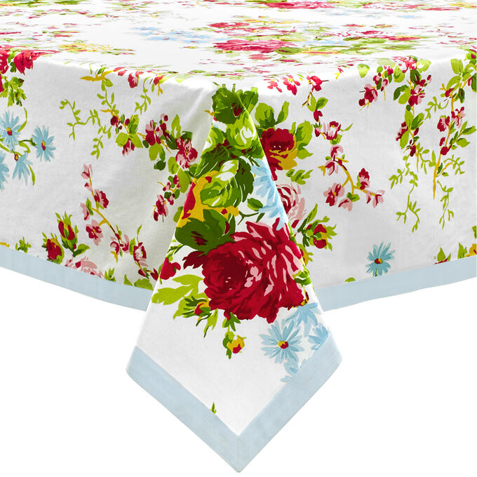Rose Garden Round Tablecloth by April Cornell