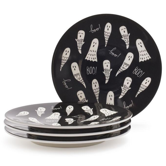 Melamine Ghosts Appetizer Plate