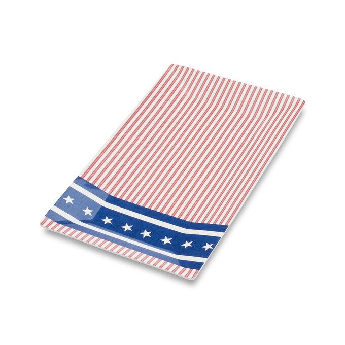 "Fourth of July Flag Platter, 13"" x 7"""