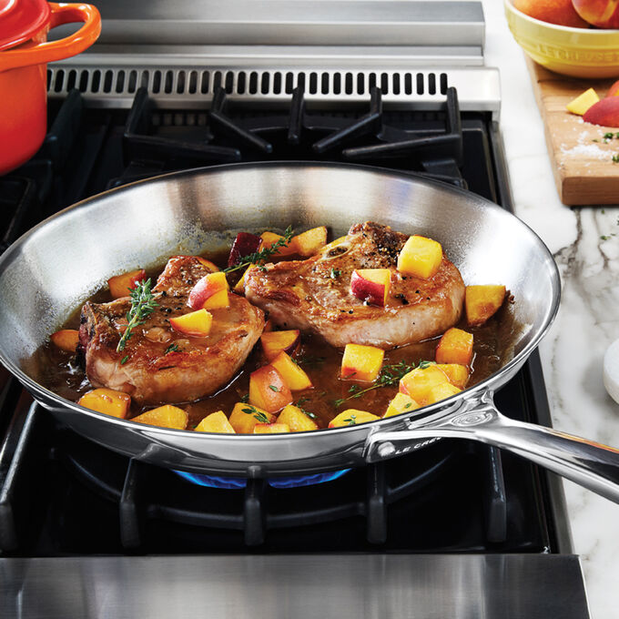 """Le Creuset Stainless Steel Skillet, 12"""""""