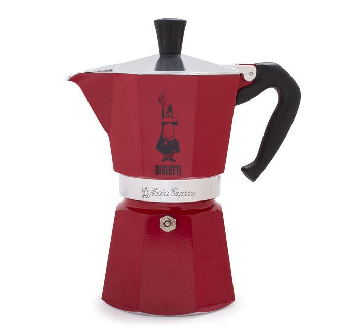 Bialetti Red Moka Express 6-Cup Espresso Maker