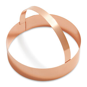 Copper-Plated Round Cookie Cutters with Handle