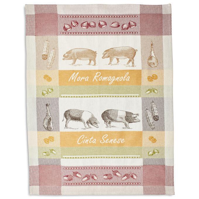 "Pigs Jacquard Kitchen Towel, 30"" x 22"""