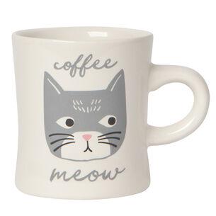 Cat's Meow Diner Mug, 12 oz.