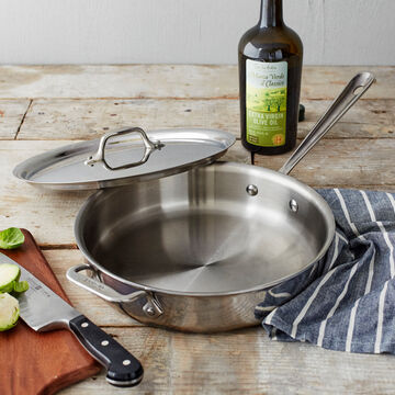 All-Clad d3 Stainless Steel Covered Sauté Pan