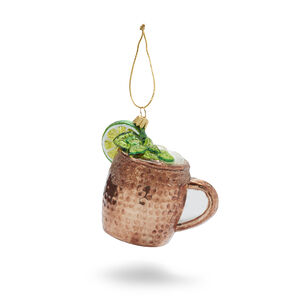 Moscow Mule Glass Ornament