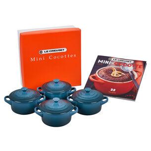 Le Creuset Signature 8 oz. Petite Cocottes with Cookbook, Set of 4
